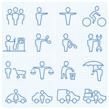 Universal People GUI icons set Royalty Free Stock Images