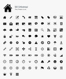 93 Universal Pixel Perfect Icons Royalty Free Stock Image