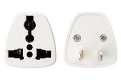 An universal power adapter on white background Stock Images