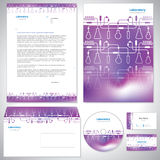 Universal purple corporate identity template. Royalty Free Stock Photo