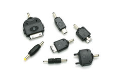 Universal recharger heads isolate on white background Royalty Free Stock Image