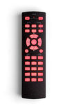 Universal remote control. With clear buttons, isolated on white Stock Photos