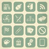 Universal Retro Icons For Web and Mobile. Vector Stock Photography