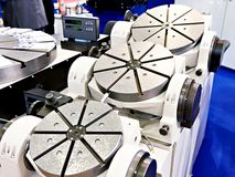 Universal rotary tables. With digital display stock image