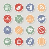 Universal Round Icons For Web and Mobile. Vector Royalty Free Stock Photos