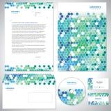 Universal sea-green identity template. Universal sea-green corporate identity template Royalty Free Stock Photography