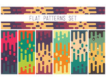 Universal seamless abstract pattern doodle geometric lines in re Stock Photo