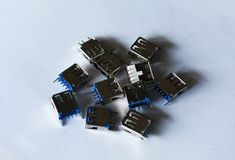Universal serial bus adapter isolated royalty free stock image
