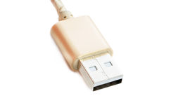 Universal Serial Bus brown color Royalty Free Stock Image