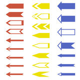 Universal set of arrows Royalty Free Stock Photos