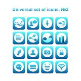 Universal set of icons. A diverse collection of infographics and icons for business Stock Images