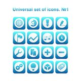 Universal set of icons. A diverse collection of infographics and icons for business Stock Photography