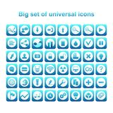 Universal set of icons stock illustration