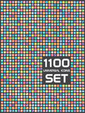 Universal set of 1100 icons Stock Photo