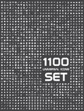 Universal set of 1100 icons. 1100 icons set flat universal Royalty Free Stock Photos
