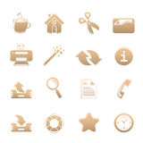 Universal set of icons one Royalty Free Stock Photos