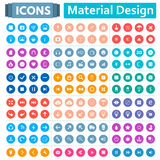 Universal Set of Icons in the Style of Material Design. Universal set of social, technical, household icons isolated on white background. Vector illustration Royalty Free Stock Photography