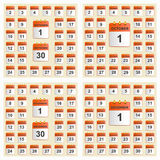 Universal set of wall calendar from September to December. Royalty Free Stock Image