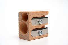 Universal Sharpener For Pencils Made Of Wood Stock Photography