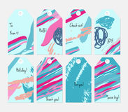 Universal shopping, sales, advertising, price tags and product label templates isolated Stock Images