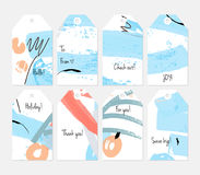 Universal shopping, sales, advertising, price tags and product label templates isolated Royalty Free Stock Image
