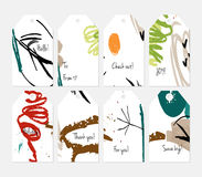 Universal shopping, sales, advertising, price tags and product label templates isolated. Hand drawn creative tags. Universal shopping, sales, advertising, price Royalty Free Stock Photography