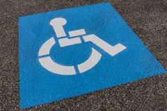 Universal Sign for Handicap Parking Spot I Royalty Free Stock Images