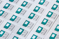 Universal SIM cards. Of different sizes Stock Photography