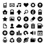 Universal Simple Web Icons Set. On White Royalty Free Stock Image