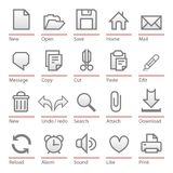 Universal software icon set Royalty Free Stock Photography