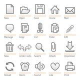 Universal software icon set. Big size Royalty Free Stock Photo