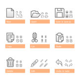 Universal software icon set. Standart part Stock Image