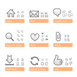 Universal software icon set. Web part Stock Photography