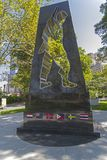 Universal Soldier Monument in Battery Park, New York. stock photography