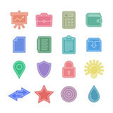 Universal sticker icons set Royalty Free Stock Image