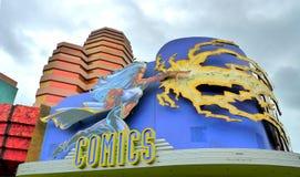 Universal studio. Orlando universal studio comics store Royalty Free Stock Photo