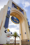 Universal Studio Archway. With Harry Potter banner and Snoopy statue Royalty Free Stock Photo