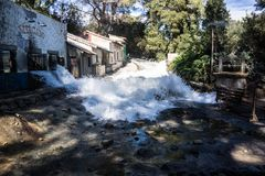Free Universal Studio Backlot Rushing River Stock Photo - 123416930