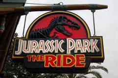 Universal Studio Japan. In Osaka Japan. Jurassic Park sign Stock Image