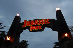 Universal Studio Japan. In Osaka Japan. Jurassic Park sign Royalty Free Stock Images