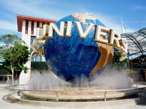 Universal Studio Singapore. On the beautiful blue sky day Royalty Free Stock Photo