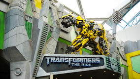 Universal Studio, Singapore - August 12, 2015: Bumble Bee Transf Royalty Free Stock Photography