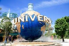 Universal Studio Singapore. And beautiful blue sky Stock Image