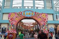 Universal Studio Singapore Chinese New Year Entrance Stock Image