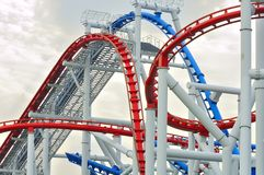 Universal Studio Singapore roller coaster Royalty Free Stock Photography