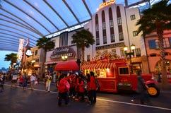 Universal Studio Singapur goście Obrazy Royalty Free