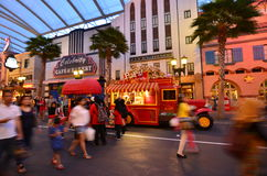 Universal Studio Singapur tłum Fotografia Royalty Free