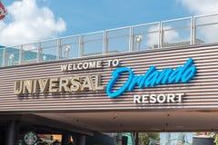 Universal Studio znak powitalny przy Citywalk Fotografia Royalty Free