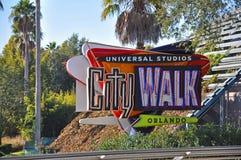 Universal Studios City Walk Orlando, Florida, USA. Universal Studios City Walk in Universal Orlando, Florida, USA royalty free stock photo