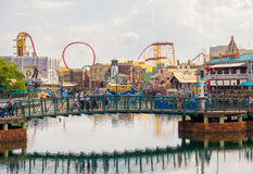 The  Universal Studios Florida theme park. ORLANDO,USA - AUGUST 23, 2014 : General view of the  Universal Studios Florida theme park Royalty Free Stock Images